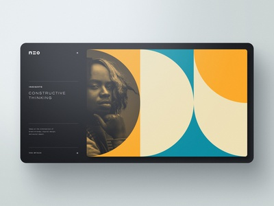 NEO website web design webdesign typography template simple profile portfolio minimal layout clean bootstrap