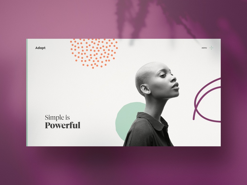 Adapt — Simple is Powerful website web design webdesign typography template simple profile portfolio minimal layout clean bootstrap