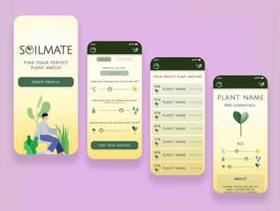 Soilmate mobile app typography ui design