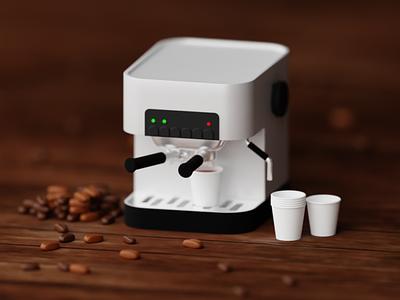 Coffee Machine 3d artist 3dart web art 3d art landing page blender website artwork illustration 3d