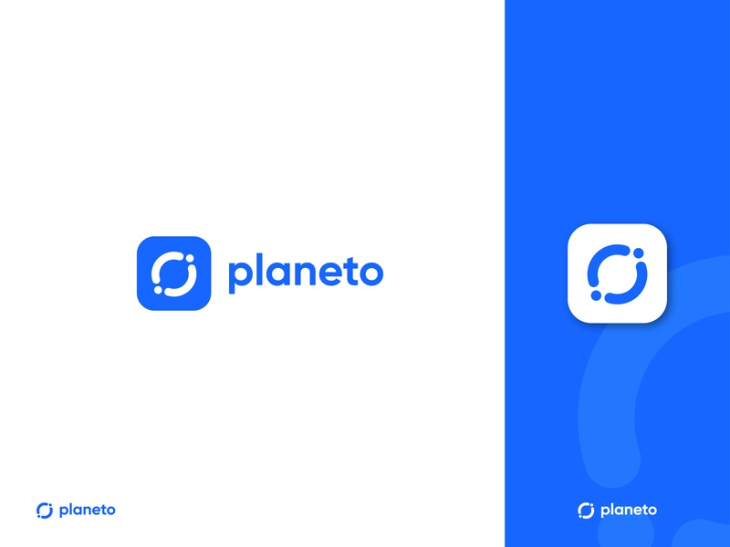 logo design for planeto icon design abstract logo technology logotype minimal identity planet logo modern logo logo mark logo illustrator identity design gradient logo app abstract vector logos logo design flat branding