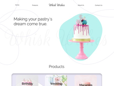Pastry Web Design pastry chef pastry web ui