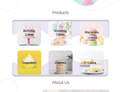 Whisk Wishes figma ui food chef pastry products