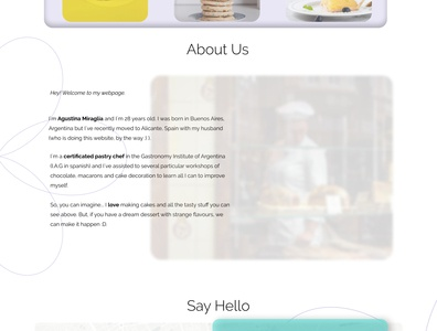 Whisk Wishes about us page web pastry ui design figma