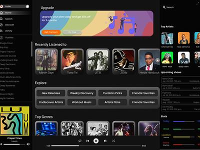 Desktop Music Player music streaming ui design design app ui apple music spotify music player