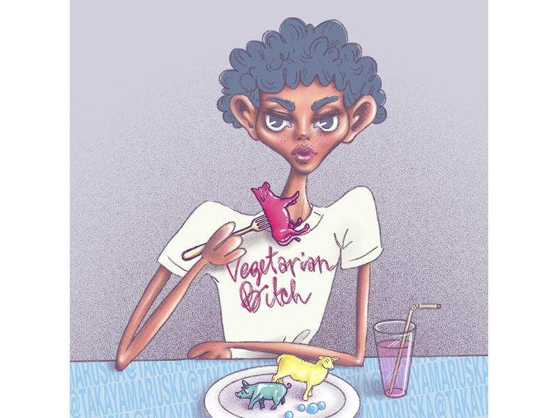 Fake Meat magazine procreate ipad illustration