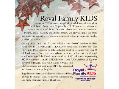 Royal Family KIDS: Starfish Story illustration nonprofit orphan care orphan children child kids starfish story starfish foster youth foster care