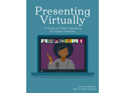 BOOK COVER: Presenting Virtually professional speaking speaking cover design book cover art book cover design book cover book