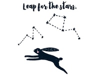 Leap for the stars.