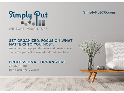 Simply Put 5 x 7 Card / An Organizing Company