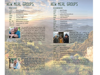 New Life Downtown / Meal Groups Booklet