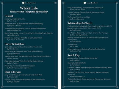 Whole Life Resources for Integrated Spirituality