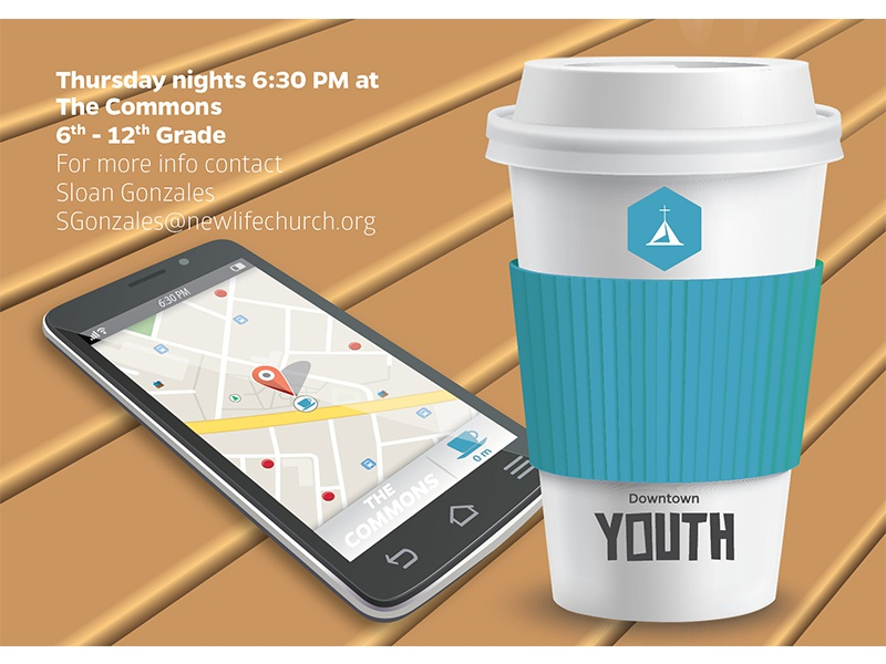 NLD Youth coffee cup coffee shop coffee iphone phone technology colorado springs colorado nonprofit non-profit church high school kids youth
