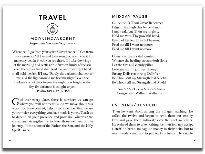 Pocket Guide / New Life Downtown outdoorsy outdoors rugged mountains pocket guide book design booklet non-profit nonprofit colorado springs colorado church design church