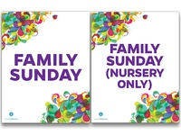 Signs for Family Sunday