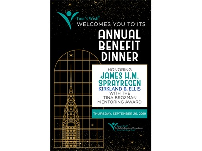 Tina's Wish Annual Benefit Dinner Poster