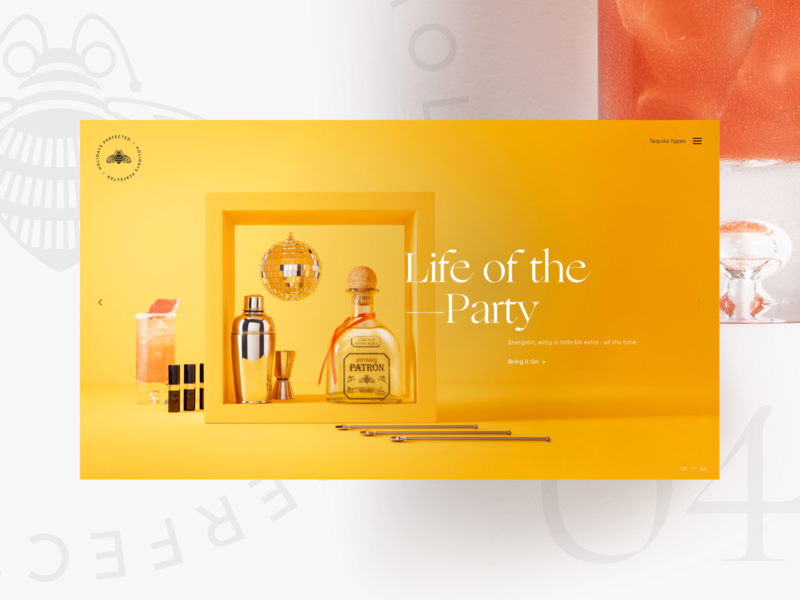 Patrón Gift Guide — 04 website tequila responsive paloma holiday gift guide party life of the party cocktails archetypes reposado