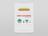 Subs & Succulents poster