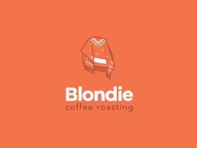 Blondie Coffee Roasting logo coffee roasting poncho blondie clint eastwood