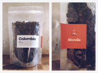Blondie Coffee Roasting - packaging