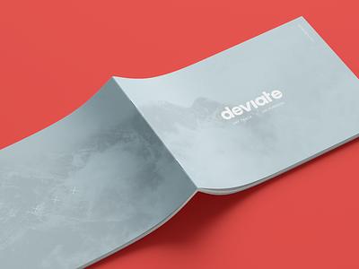 Deviate Culture Book 01 coaching performance coaching graphic design brochure book branding ethos values culture deviate