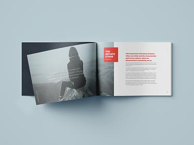 Deviate Culture Book 02 spread values performance coaching graphic design ethos deviate culture coaching brochure branding book