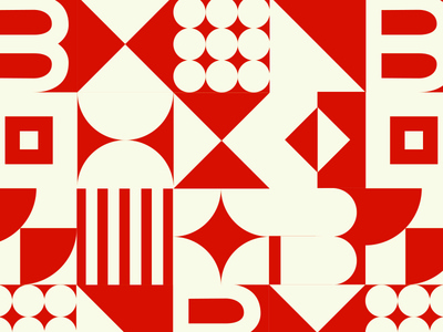 B&Co. Pattern geometric red vector branding design branding pattern