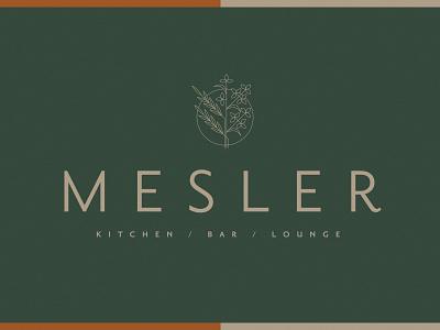 Mesler Logo Design design branding design vector hospitality restuarant icon illustration logo design branding logo