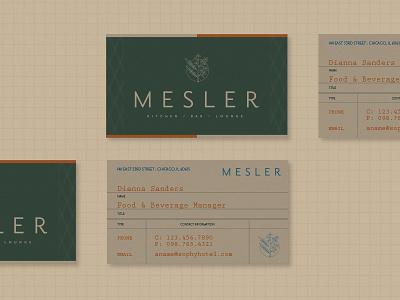Mesler Business Cards print design business card design typography illustration branding design branding