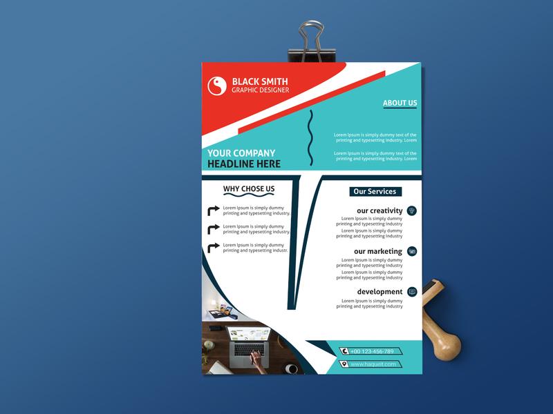 CORPORATE FLYER DESIGN . poster post photoshop modern minimalist minimal marketing homeowner home flyer