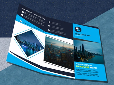 real estate tri fold brochure design . real estate property poster open house newspaper negotiator branding design colorful corporate