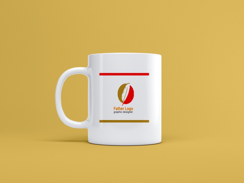 Tea mug design . tea design visual identity typeface transparent studio smart objects simple shadow restautant