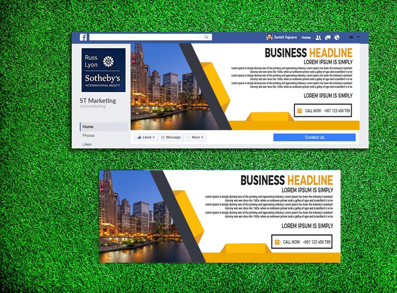 FACEBOOK COVER DESIGN . logo creative colorful branding page corporate design facebook fb