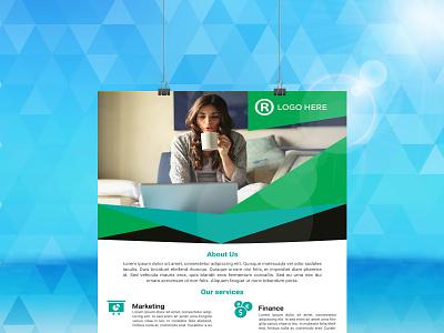 CREATIVE CORPORATE FLYER DESIGN. clean creative design branding logo motion graphics graphic design 3d animation