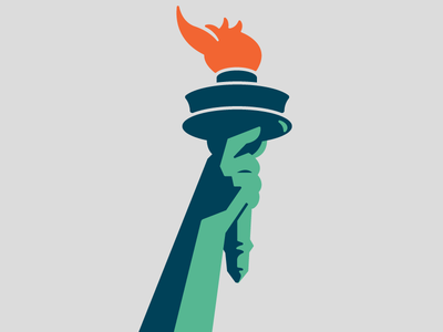 Torch statue of liberty fire logo branding america liberty torch