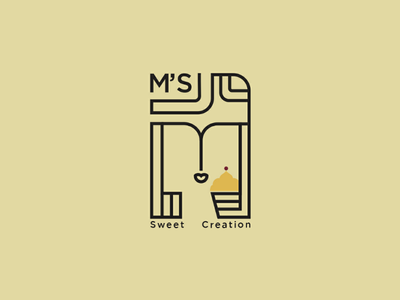 M's sweet creation branding project brandingidentify logo logodesign
