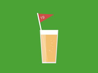 19 Holes Primary Mark logo golf