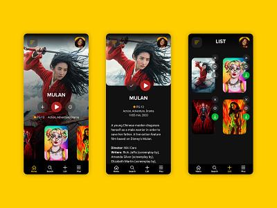Streaming App Movies figma marvel dc disney application ui application design application app ui design flat streaming app streaming
