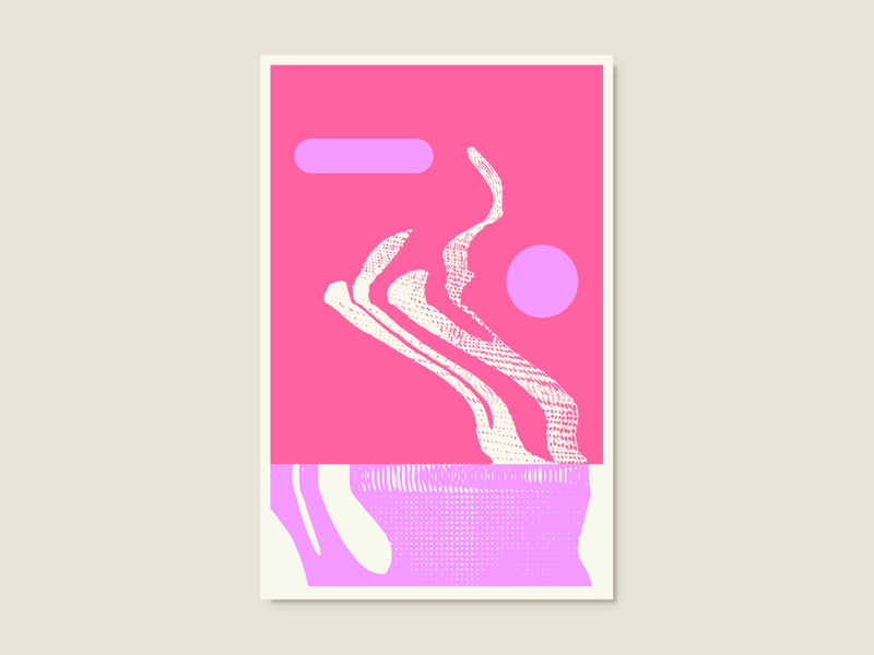 Mirage abstract art vector illustration flat scanner geometic abstract poster poster art design
