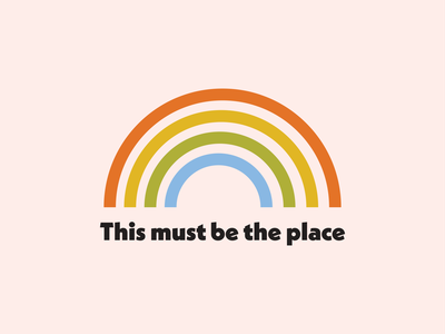 This Must Be The Place rainbow branding logo graphic design design flat