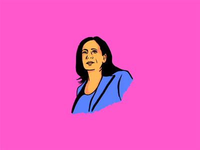 Kamala harris adobe fresco kamala harris portrait illustration portrait illustration