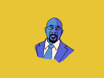 Raphael Warnock raphael warnock adobe fresco portrait drawing portrait illustration illustration