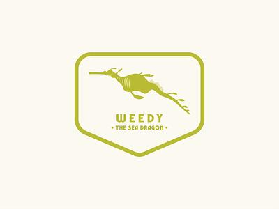 Weedy - The Sea Dragon sticker design badge design illustration graphic design flat design