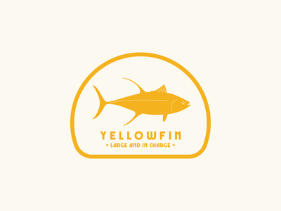 Yellowfin - Large and In Charge sticker design badge design illustration graphic design flat design