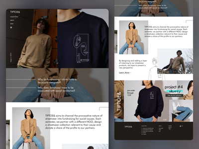 TIPTOE& - Fashion | Daily UI Challenge 003 (Landing page) landing page fashion landing page 003 dailyui 003 ui ux design dailyui