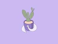 Opal with a cactus cute procreate digitalart cactus purple snake