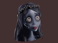 A corpse Bride procreate digitalart tim burton emily corpse bride