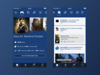 Playstation® App Redesign: update #1