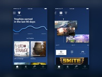 Playstation® App Redesign: trophies and events