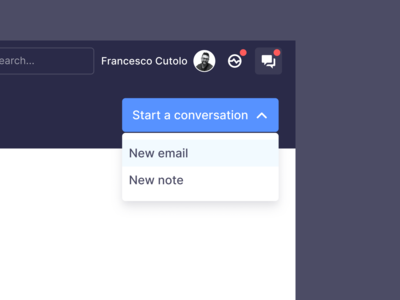 Dropdown for a new conversation
